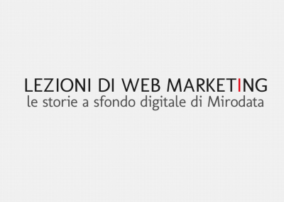 Lezioni di web marketing