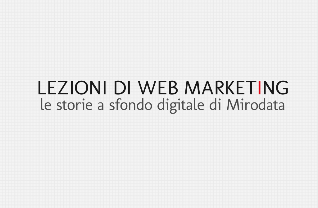 Lezioni di web marketing