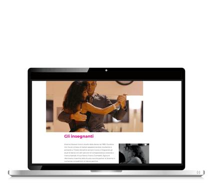 Scuola di ballo Arianna Trieste laptop