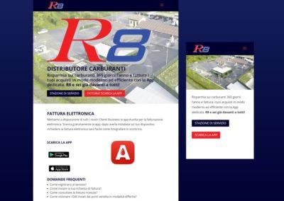 Realizzazione sito web R8 Carburanti