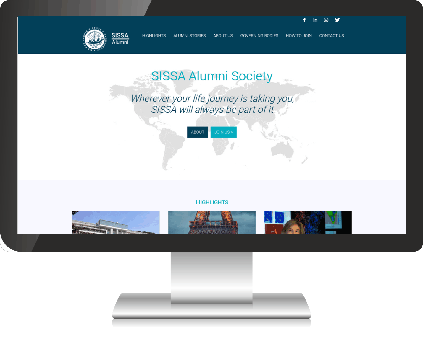 Sissa Alumni Society  desktop