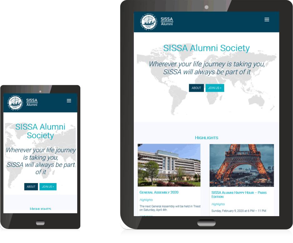 Sissa Alumni Society mobile