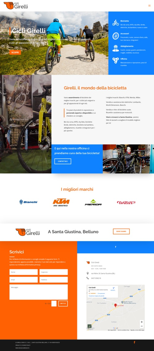 Cicli Girelli sito web